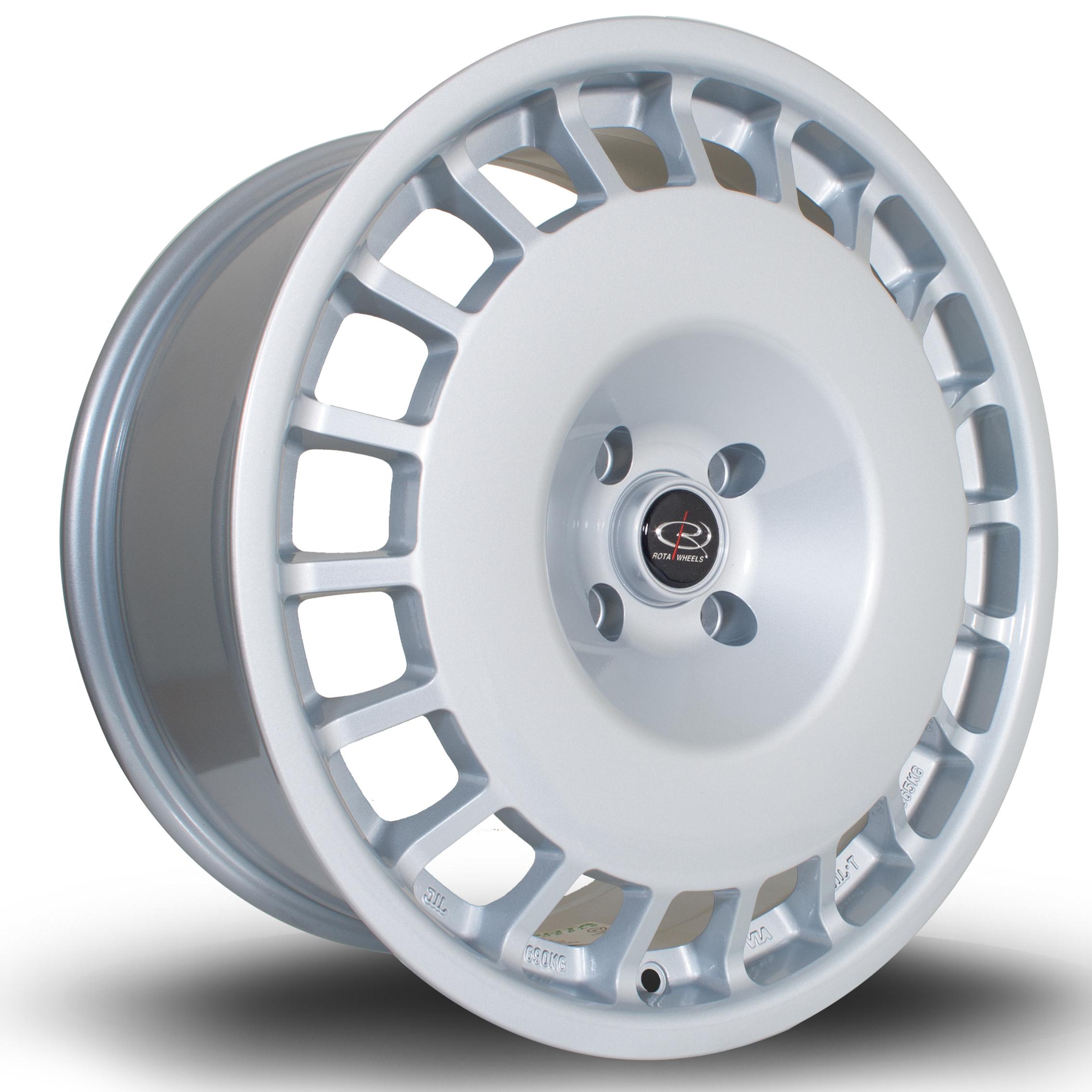 ROTA D154 hliníkové disky 8,5x18 4x108 ET35 Silver