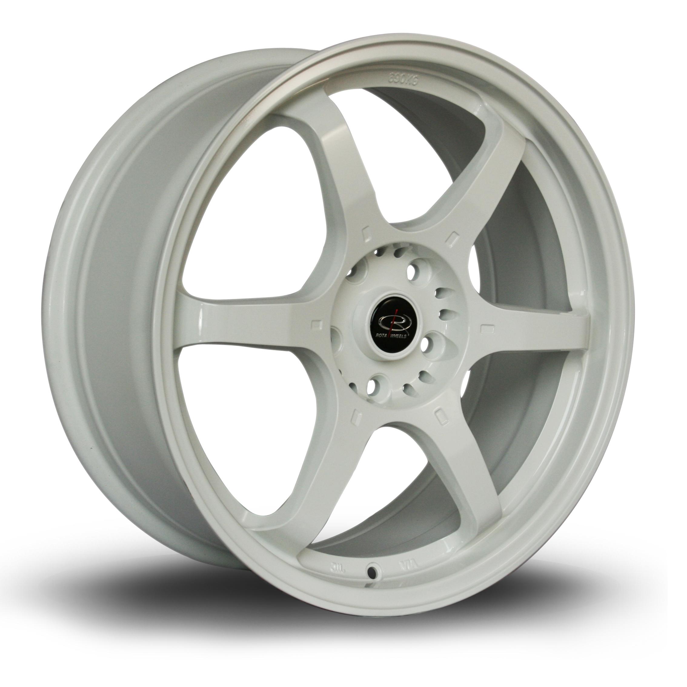 ROTA GR6 hliníkové disky 7,5x18 5x114,3 ET45 White