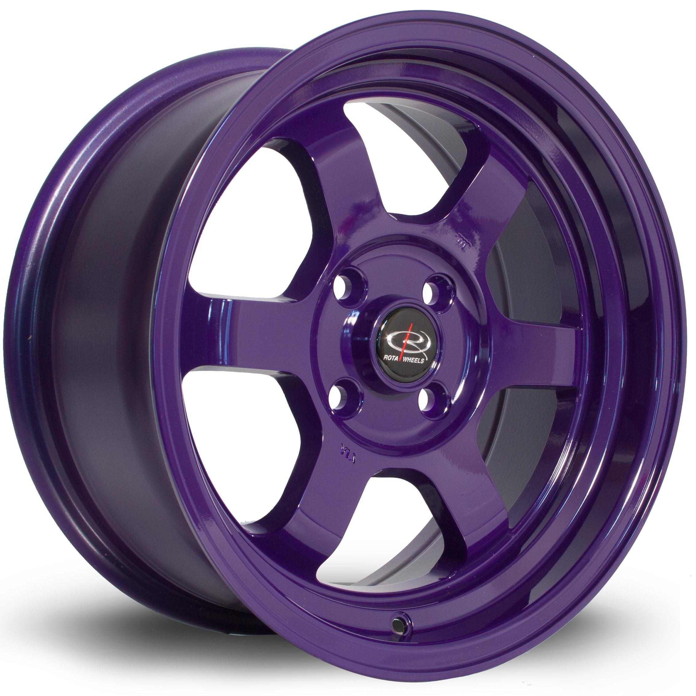 ROTA Grid-V hliníkové disky 7x15 4x100 ET20 Violet