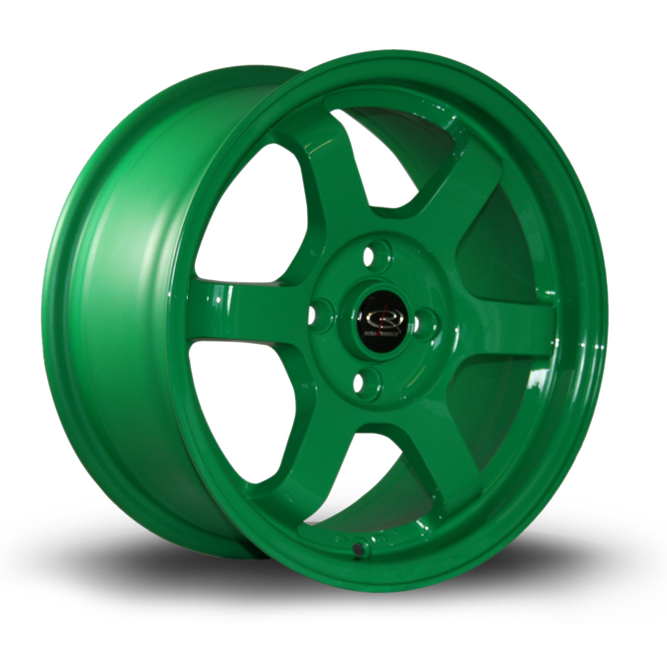 ROTA Grid hliníkové disky 7x15 4x100 ET40 Green