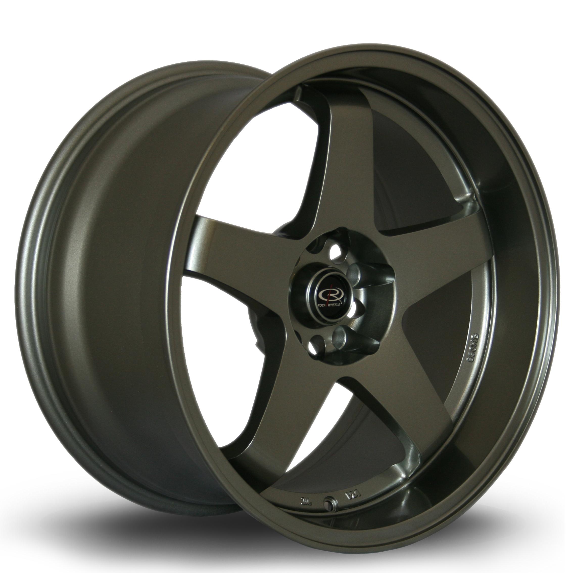 ROTA GTR-D hliníkové disky 9,5x18 5x114,3 ET12 Steelgrey
