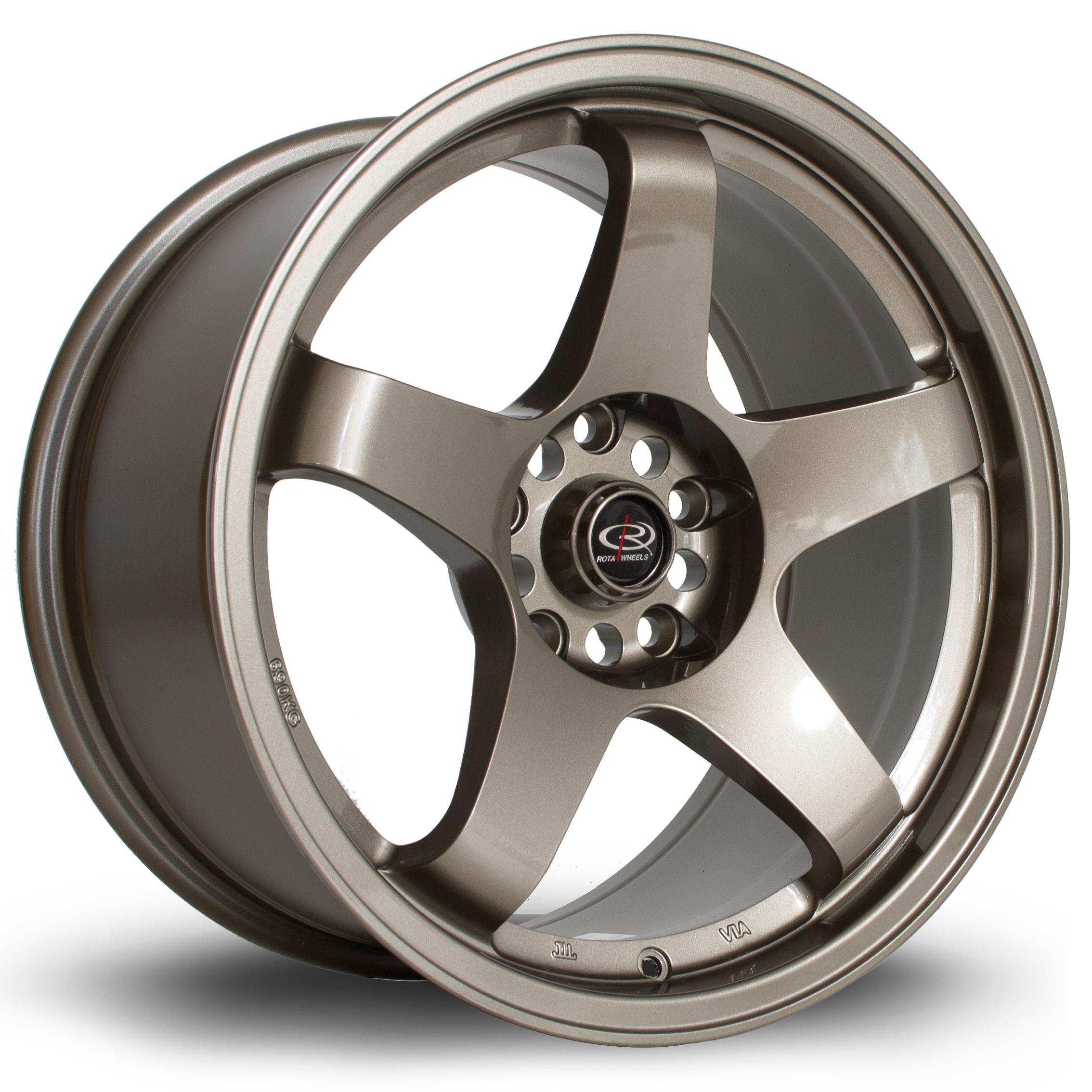 ROTA GTR hliníkové disky 9,5x17 5x114,3 ET30 Bronze
