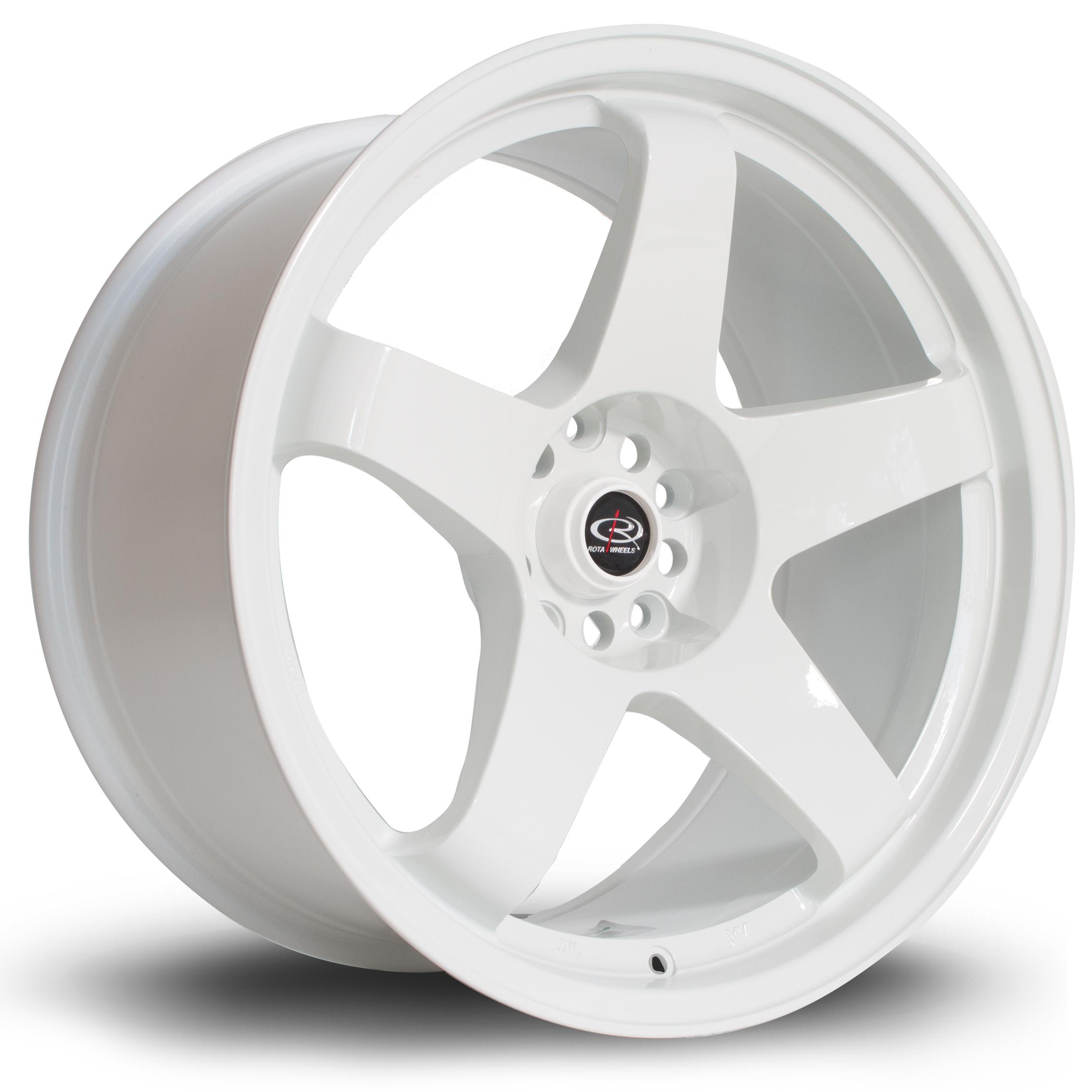 ROTA GTR hliníkové disky 9,5x18 5x114,3 ET12 White