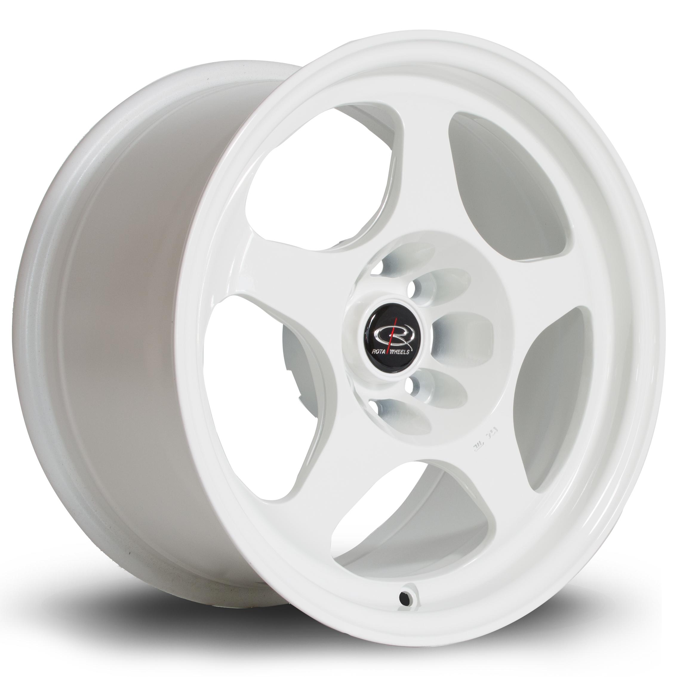 ROTA Slip hliníkové disky 8x15 4x100 ET20 White