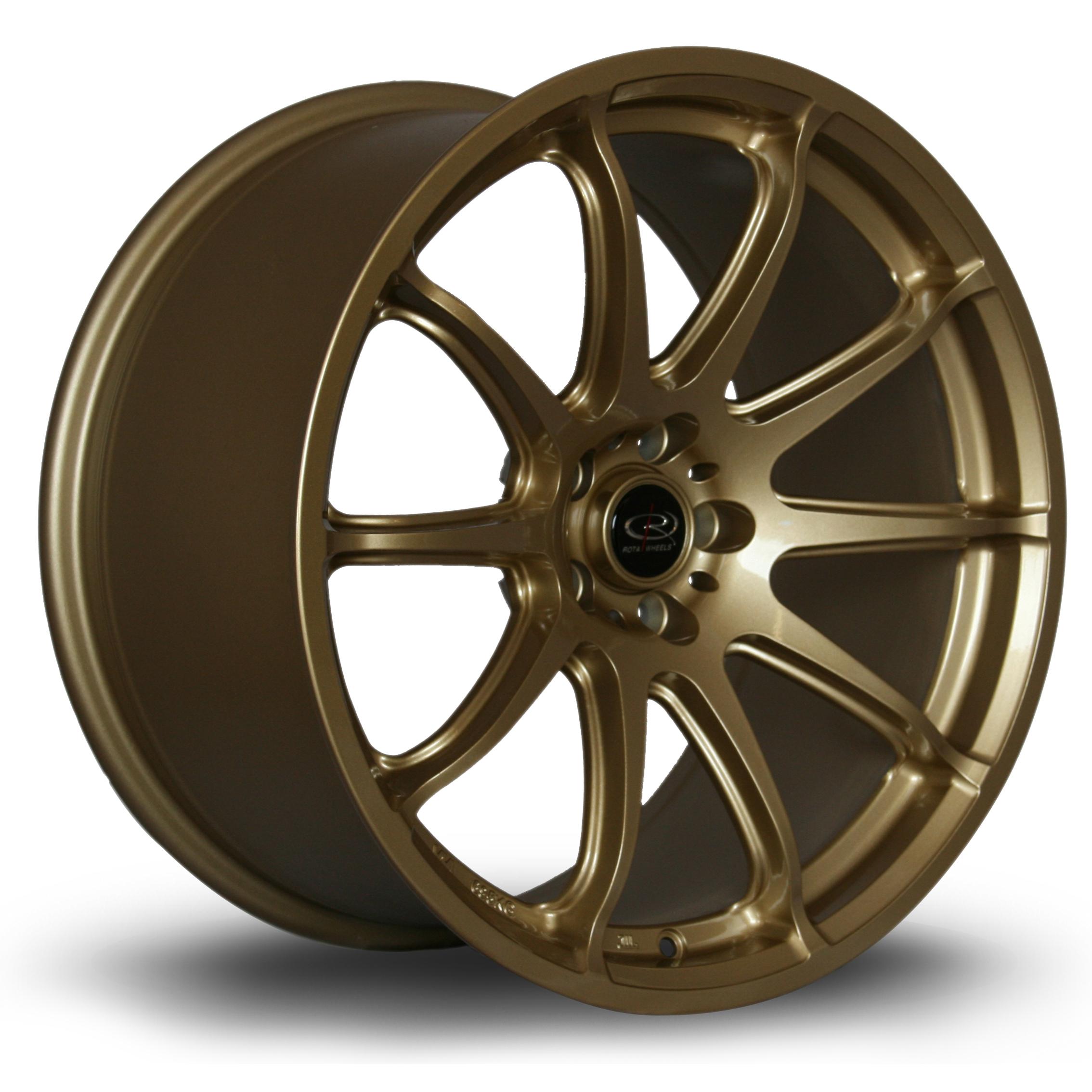ROTA T2R hliníkové disky 9,5x18 5x100 ET38 Gold
