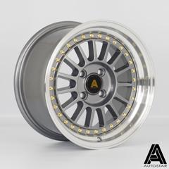 AUTOSTAR Circuit hliníkové disky 8x15 4x100 ET28 RLGunmetal