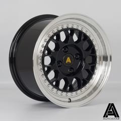AUTOSTAR Corse hliníkové disky 8x15 4x100 ET25 RLBlack