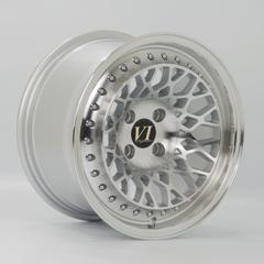 6-PERFORMANCE Infinity hliníkové disky 8,25x15 4x100 ET15 Silver