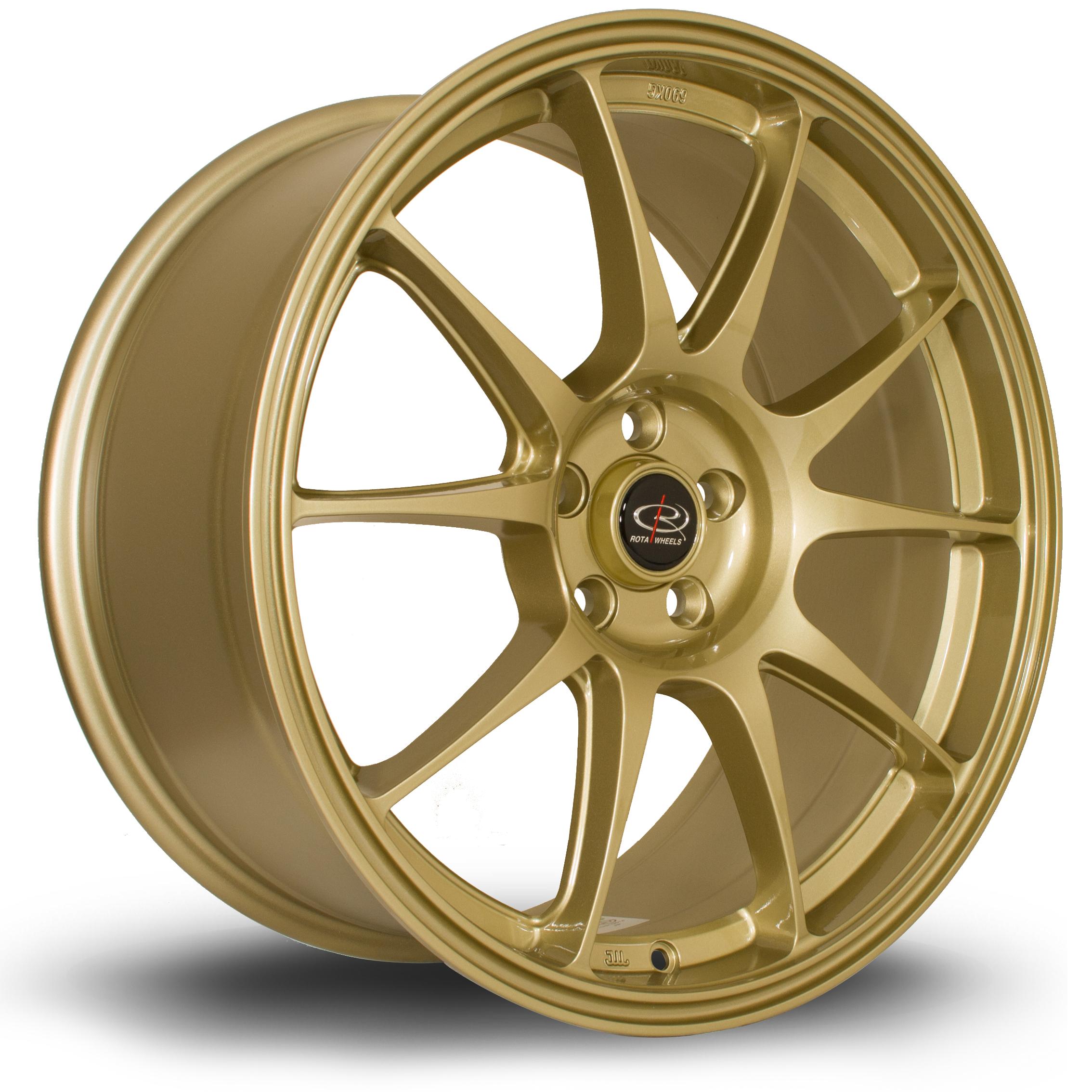 ROTA Titan hliníkové disky 8,5x18 5x100 ET44 Gold