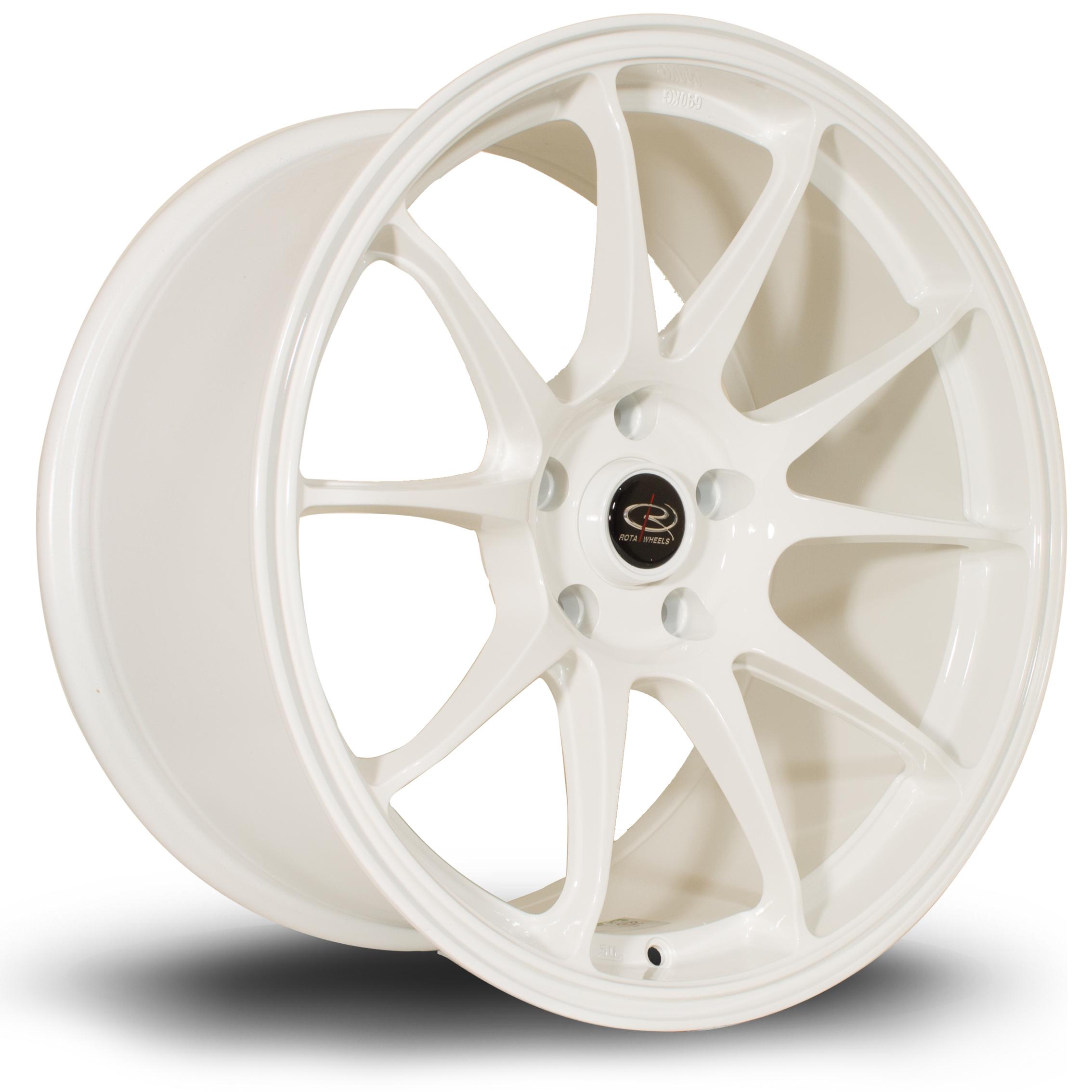 ROTA Titan hliníkové disky 9,5x18 5x100 ET35 White